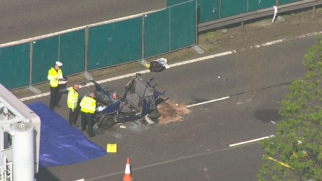 Lancaster Car Crash Yesterday