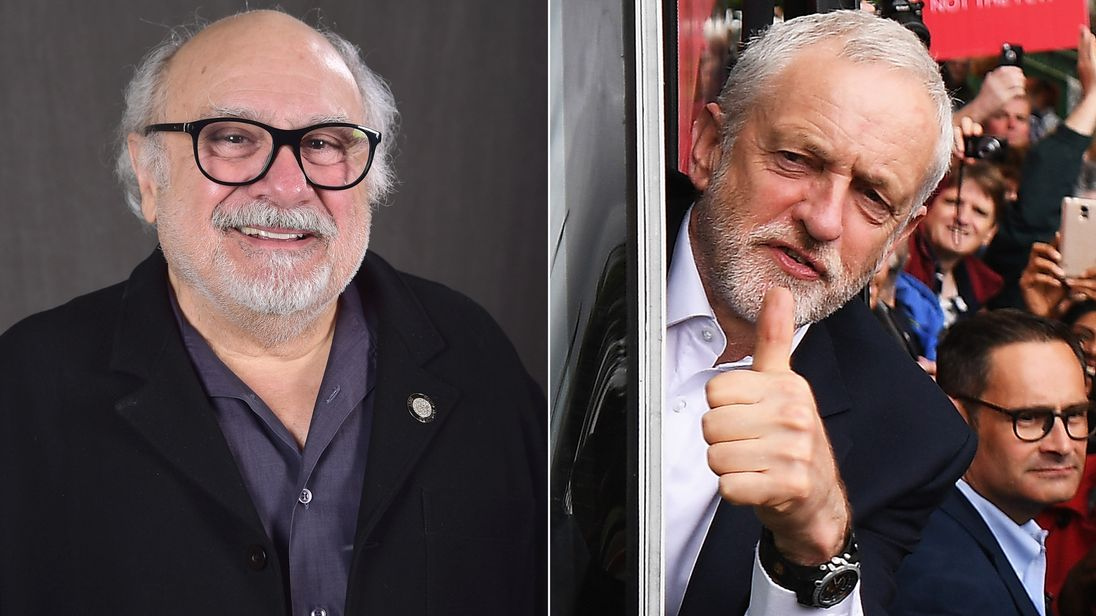 Danny DeVito and Jeremy Corbyn
