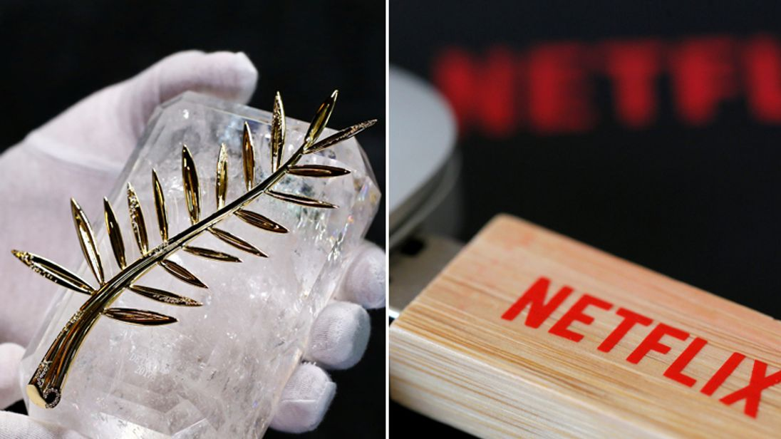 Cannes Palme d'Or and Netflix USB pen