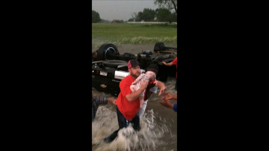 Infant, toddler rescued from overturned truck amid Texas floods