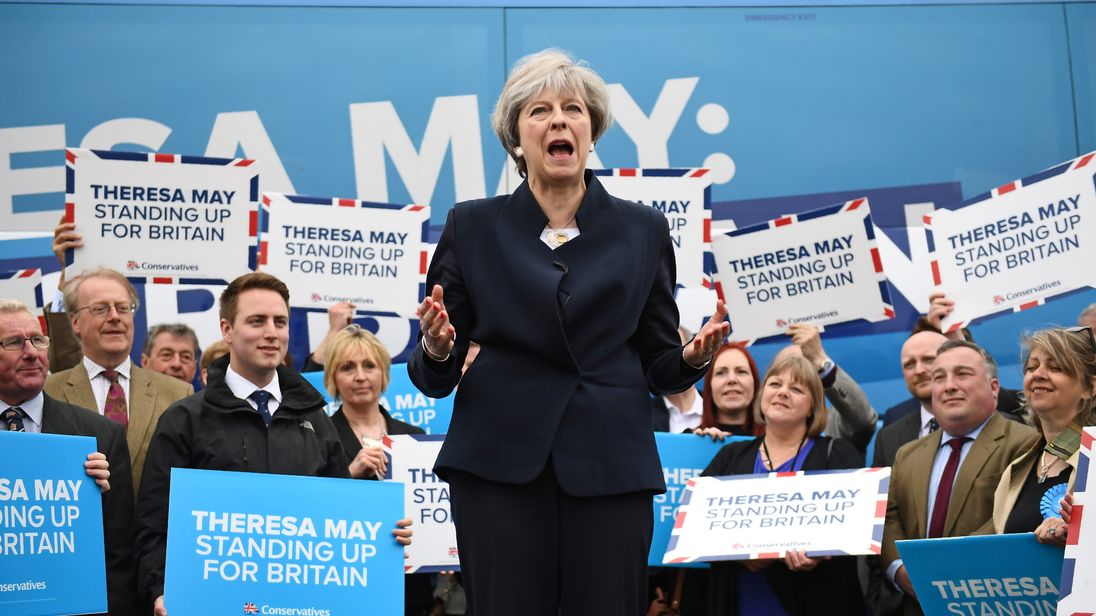 Image result for theresa may in north east