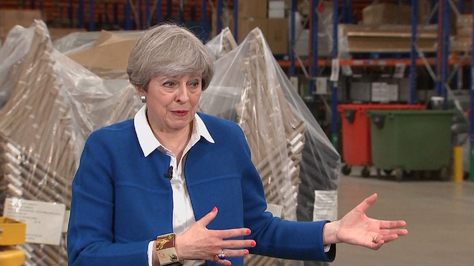 Theresa May fields a question on rising living costs since the Brexit vote