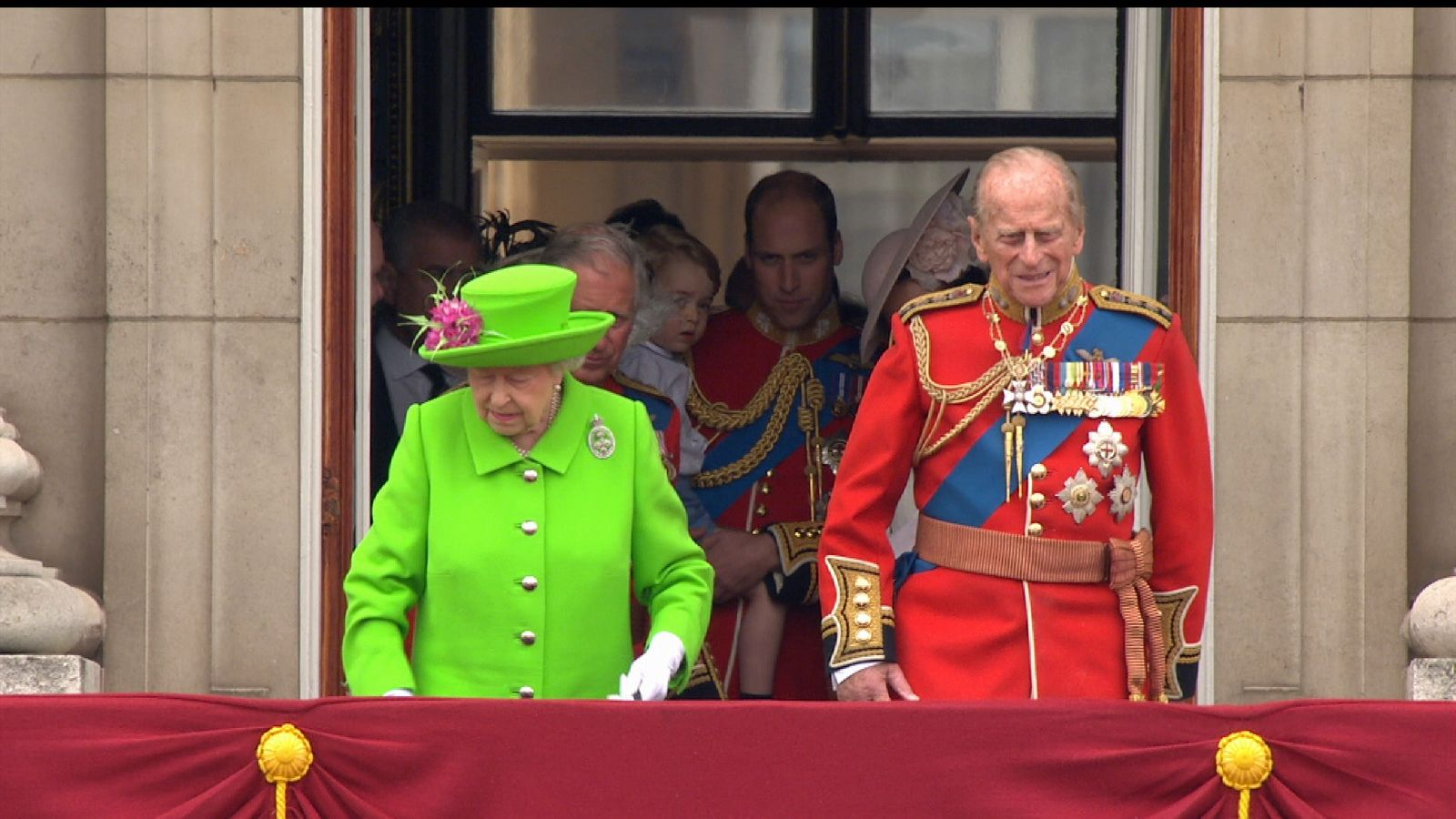 Queen and Prince Philip during Her Majesty's 90th birthday celebrations