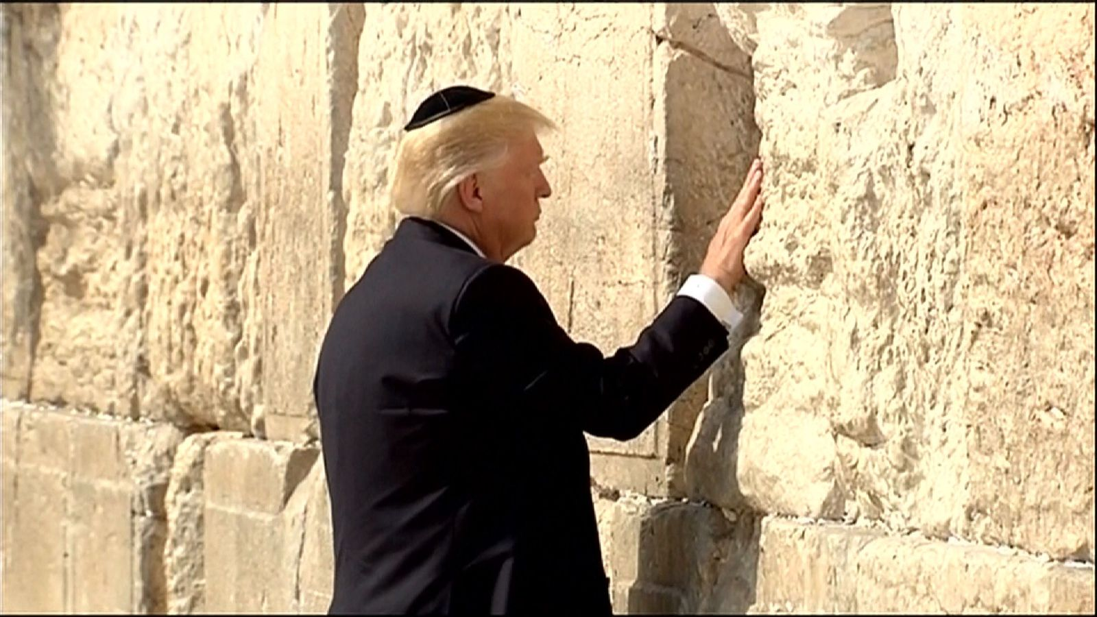 Donald Trump at the Western Wall in Jerusalem