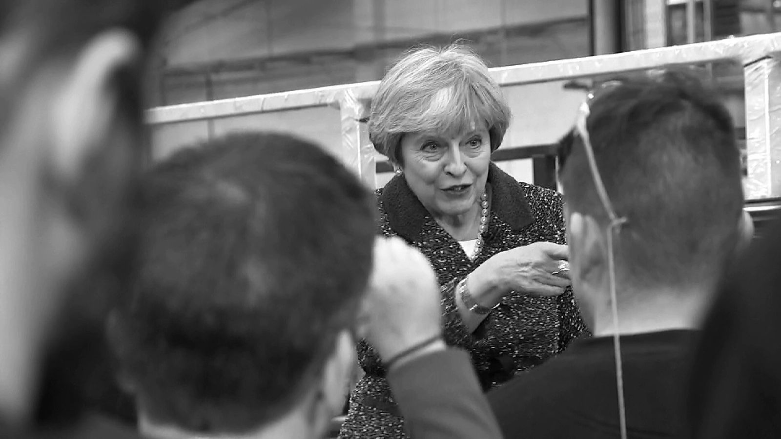 Theresa May makes her point during the election campaign