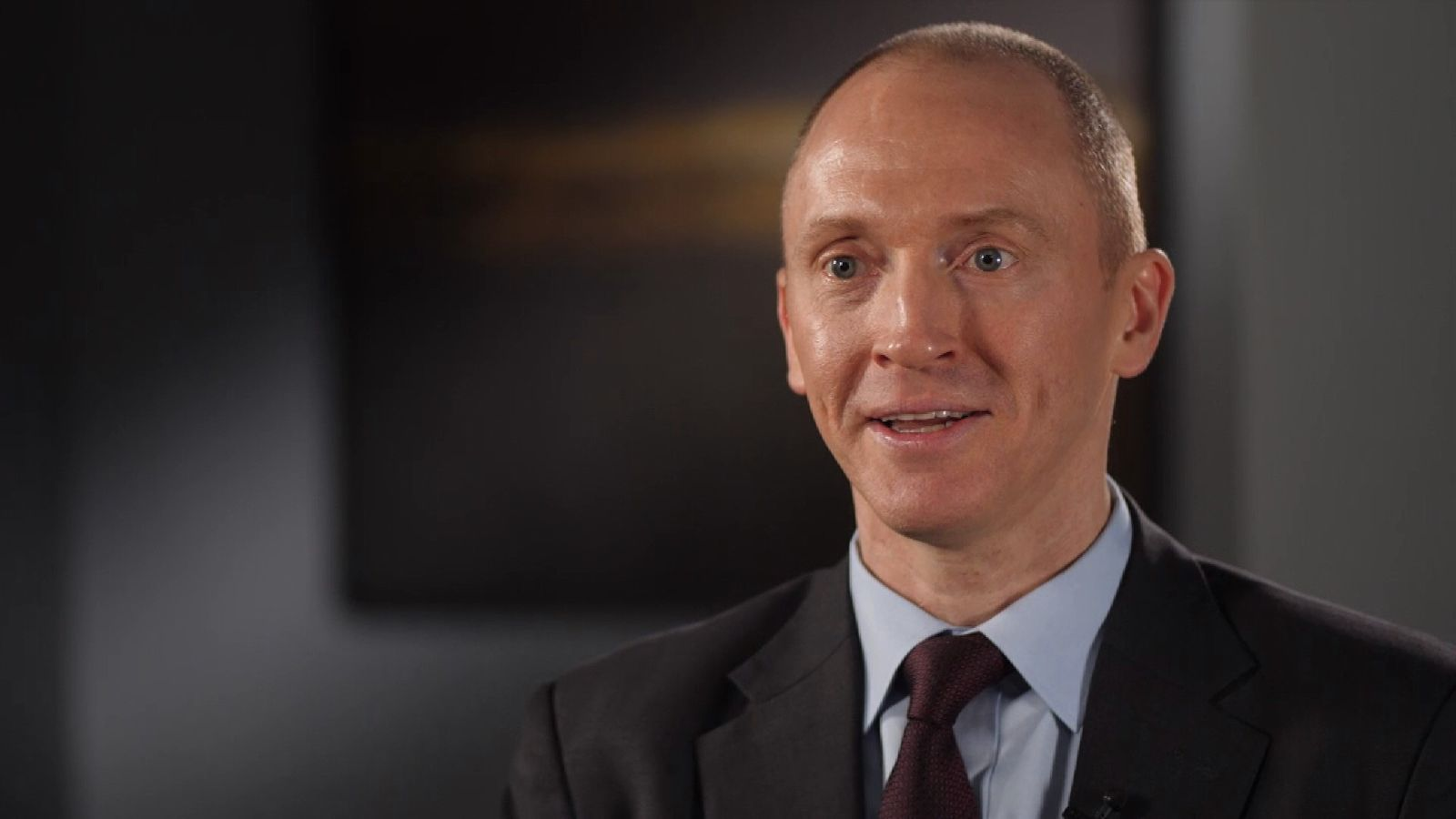 Carter Page former Trump adviser talking in interview.