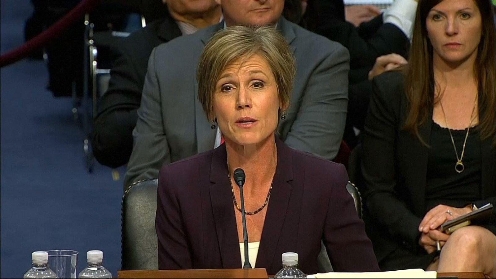Ms Yates told senators her department believed General Flynn was compromised