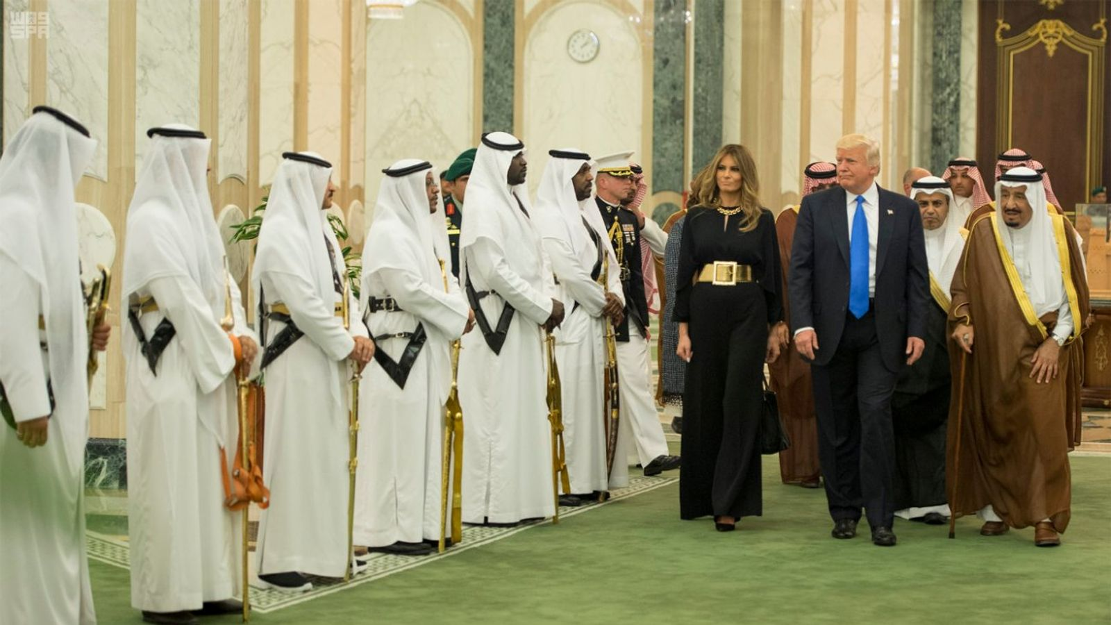 Trump slip up in Saudi Arabia speech blamed on exhaustion