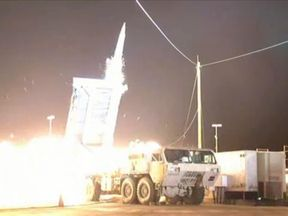 A test firing of the THAAD missile defence system