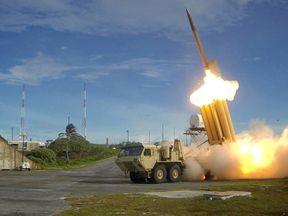 A THAAD missile interceptor missile is tested. File pic