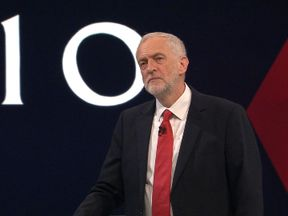 Jeremy Corbyn answers a question on the IRA
