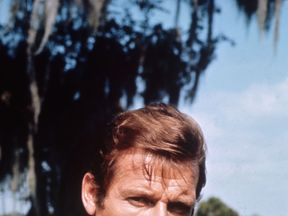 Moore in one of his most famous movies, 1973's 007: Live And Let Die