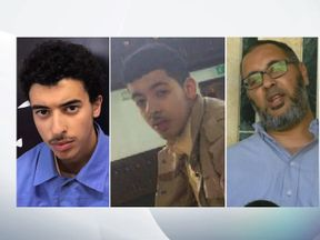 Hashem Abedi, Salman Abedi and Ramadan Abedi (L-R)