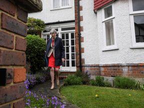 Theresa May goes canvassing door to door in Ealing