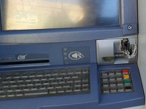 Cybercriminals melt or drill through the ATM cover so they can access the computer underneath