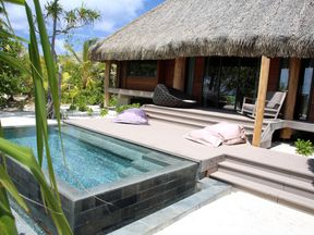 One of the villas at the Brando resort on Tetiaroa