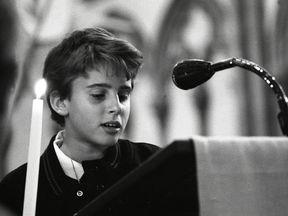 Emmanuel Macron in May 1990. Pic: Gerard Banc/Lycée La Providence Amiens