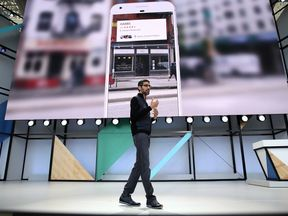Google's CEO Sundar Pichai unveils the firm's new innovation Google Lens