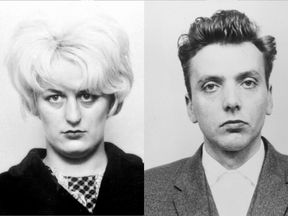 Myra Hindley and Ian Brady, known as the Moors murderers
