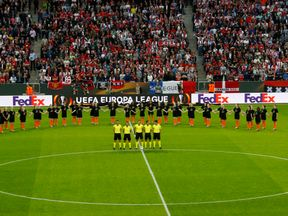 Minute of silence before the Europa League final