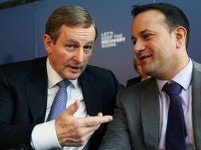 Enda Kenny (L) and Leo Varadkar