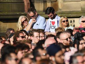The vigil in Albert Square a day after the attack