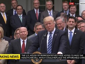 Trump vowed to 'finish off' Obamacare