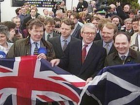 John Major in Scotland when he was prime minister