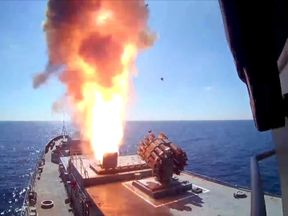 Russian missile strikes on Islamic State in Syria