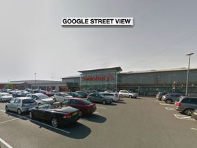 The shooting happened in the car park outside the Sainsbury's store off the Balloo Link road in Bangor