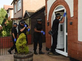 A house in Nuneaton was being searched after a man was arrested there