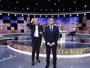 Marine Le Pen and Emmanuel Macron have clashed ahead of Sunday's vote