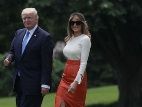 President Trump and Melania  ready to depart for his first foreign trip