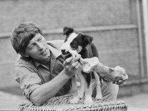 John Noakes with his faithful companion Shep in 1971