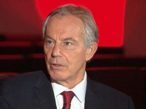 Tony Blair speaking to Adam Boulton