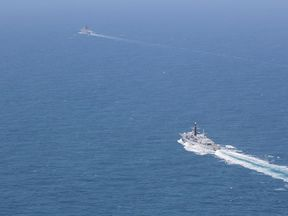 HMS Mersey escorted the Russian ships through the English Channel