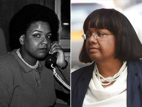 Diane Abbott in 1986 and 2017