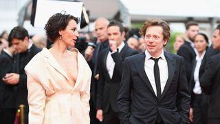 Actress Jeanne Balibar and actor Mathieu Amalric of 'Barbara'