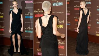 Cara Delevingne attends the Magnum party
