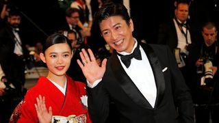 """""""Mugen no junin"""" cast members Hana Sugisaki and Takuya Kimura"""