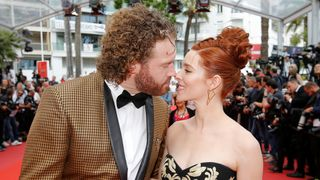 Actors T. J. Miller with his wife Kate Gorney