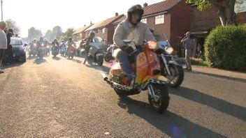 A motorcycle procession was part of the tribute to Olivia Campbell