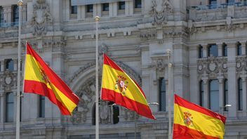 Flags in Madrid, Spain  were also lowered to half-mast