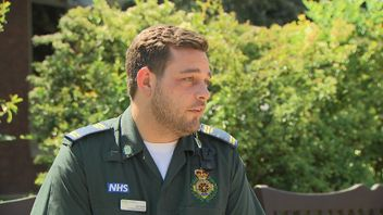 Paramedic Dan Smith was the second responder on the scene