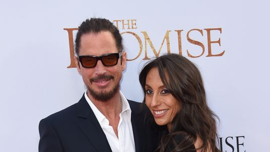 Chris Cornell and his wife, Vicky, at a Hollywood premiere in April 2017