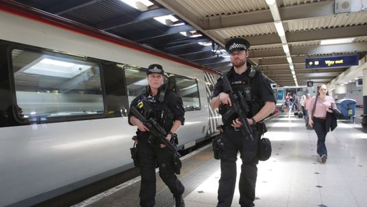 Armed police have begun patrolling on board trains in the wake of the Manchester attack