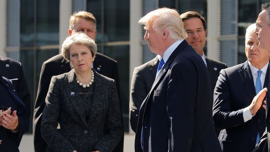 Mrs May warned the US President the leaks risked harming the 'special relationship'