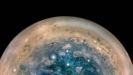 Juno spotted monstrous storms around Jupiter's poles