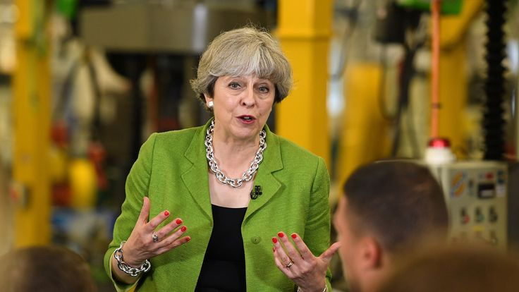 Theresa May on the campaign trail in Bath