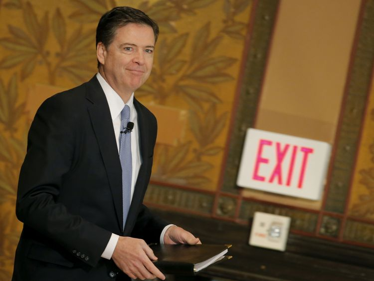 James Comey was fired as FBI director by President Trump on Tuesday